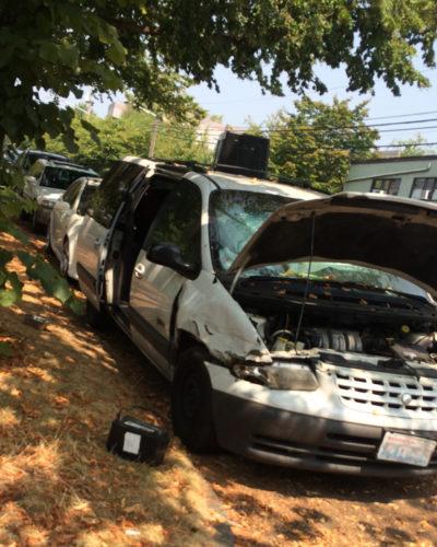 Photo of broken down van